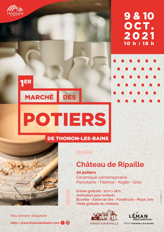 1ère édition Marché potiers de  Thonon  les  Bains 9 et 10 octobre  2021