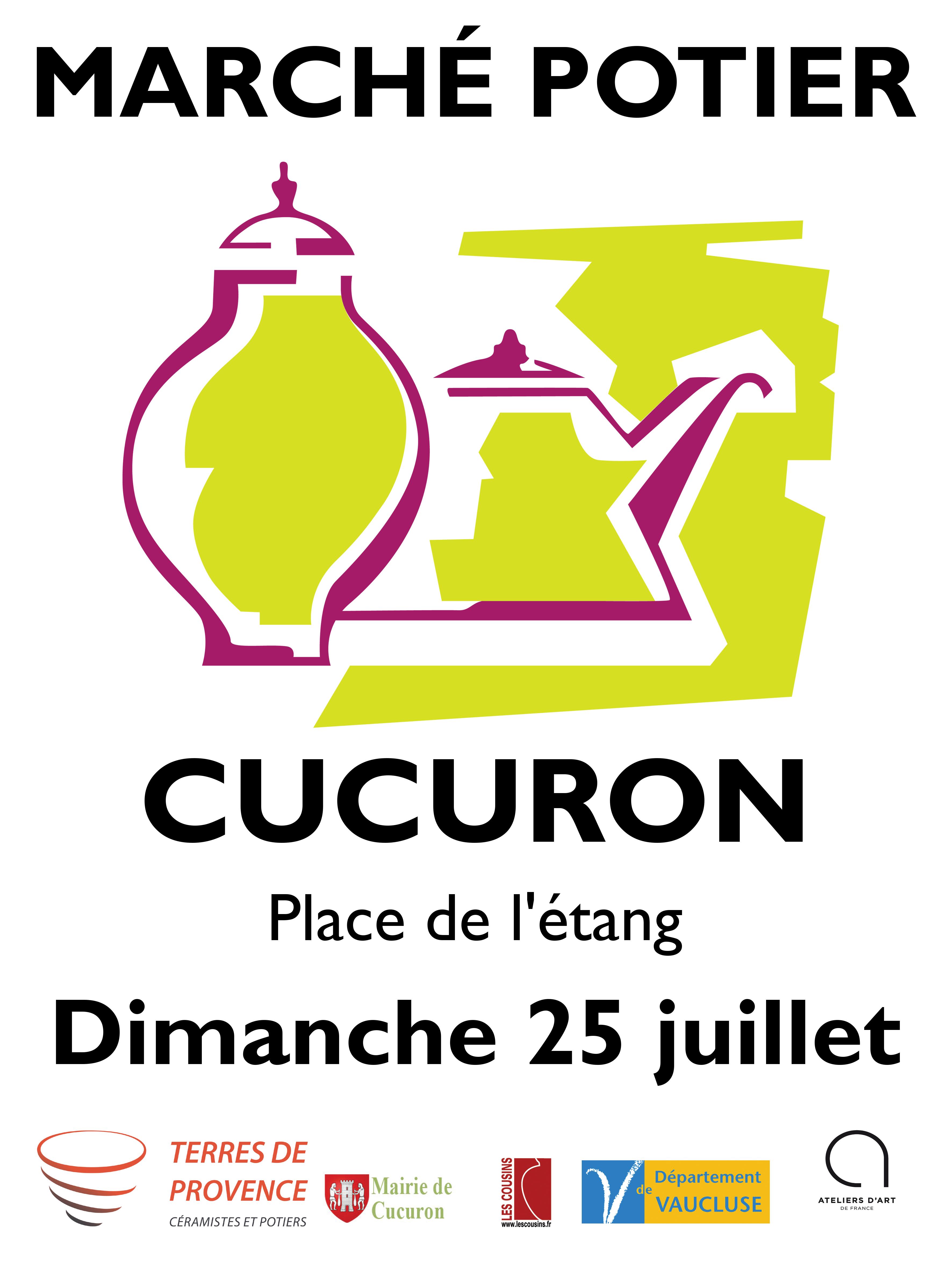 Marché Potiers de Cucuron dimanche 25 juillet  2021
